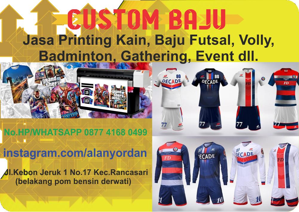 41fab61ee83 Jasa pembuatan jersey futsal custom full printing online desain sendiri  murah berkualitas